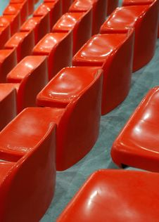 Indoor Athletic Center Seats Royalty Free Stock Images