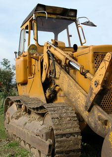 Free Yellow Dozer Stock Photos - 2004723
