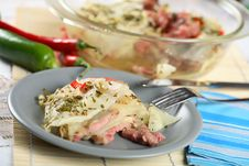 Oven Pork With Sauerkraut Stock Photos