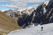 Free Mens, Mountains And Glacier. Stock Image - 2007111