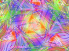 Colorful Lines Stripes Collage Royalty Free Stock Image