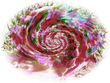 Free Abstract Painted Rose Petals Royalty Free Stock Photo - 2009395