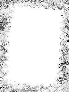 Squiggly Lines Photo Frame Royalty Free Stock Photography