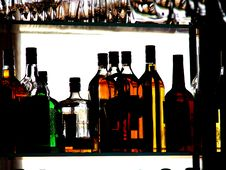 Free Colored Bottles Royalty Free Stock Photos - 2009918