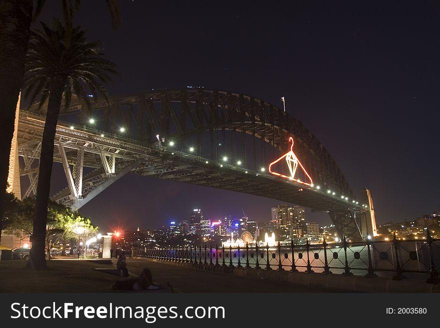 Harbour Bridge in the night