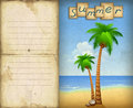 Free Illustration Of Summer Beach With Palms Royalty Free Stock Photography - 20000837