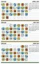 Free Mayan Calendar, April-June 2012 (American) Stock Image - 20005991