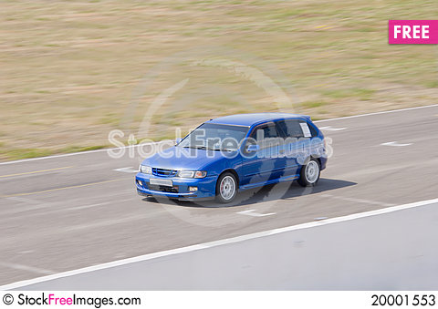 Fast car in a race Stock Photo