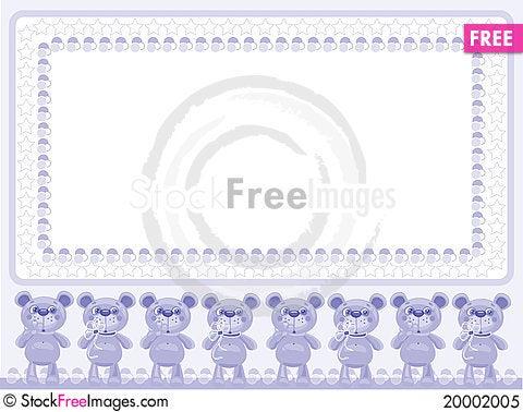 Birthday background with bears Stock Photo
