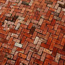 Brick Work Patio Stock Photo