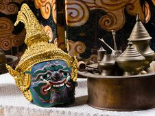 Free Thai Drama Mask Stock Image - 20000241