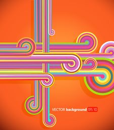 Free Abstract Lines With Orange Background. Royalty Free Stock Photography - 20000997