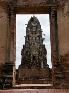 Free Ancient Temple In Ayutthaya Thailand Stock Photos - 20001123