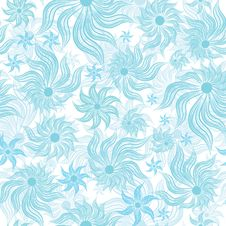 Free Art Flower Seamless Background Stock Image - 20001271