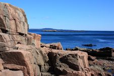 Free Rocky Coastline Of Acadia National Park Stock Photo - 20001280