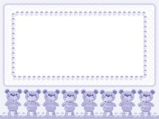 Birthday  Background With  Bears Royalty Free Stock Photo