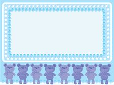 Birthday  Background With  Bears Royalty Free Stock Photography