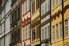 Free Prague Facades, Typical Architecture Royalty Free Stock Photography - 20002337