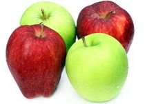 Apple Red And Green Stock Images