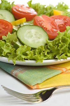 Free Fresh Salad On White Plate Royalty Free Stock Image - 20002486