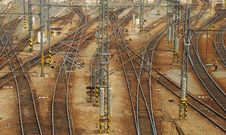 Free Rail Tracks And Railway Interchange Stock Photo - 20002520