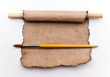 Free Vintage Old Paper Background With Paint  Brush Stock Image - 20003211
