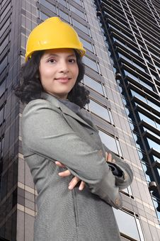 Successful Engineer Woman Royalty Free Stock Photography