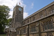 Haworth Church And Clocktower Royalty Free Stock Images