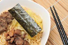 Free Japanese Style Noodles Royalty Free Stock Photo - 20003435