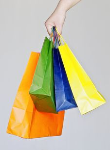 Free Shopping Bags Royalty Free Stock Photography - 20003597