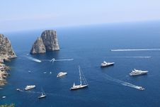 Faraglioni A Capri Royalty Free Stock Photos