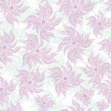 Free Art Flower Seamless Background Stock Image - 20003981