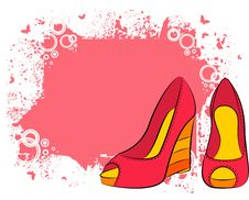 Free Pair Of Shoes With High Heel Royalty Free Stock Images - 20004319
