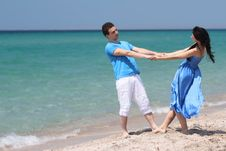 Free Young Couple On Natural Background Stock Images - 20004864