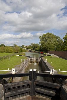 Free Longest Flight Of Canal Locks In England Royalty Free Stock Photo - 20005015
