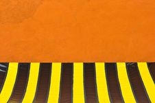 Free Colorful Plastic Tent At Orange Wall Stock Images - 20005494