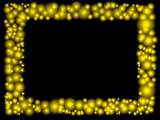 Free Frame Of Golden Bubbles Royalty Free Stock Photo - 20005855