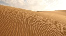 Free Sand Dunes And Cloudless Sky Stock Photos - 20006023