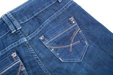 Modern Blue Jeans Royalty Free Stock Images