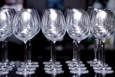 Free Closeup Empty Wine Glass Stock Photo - 20006490