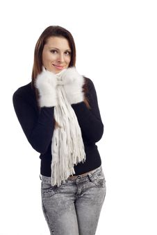 Free Portrait Of Young Woman Feeling Cold Stock Photo - 20007680