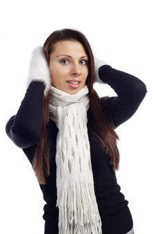 Free Portrait Of Young Woman Feeling Cold Stock Photography - 20007682