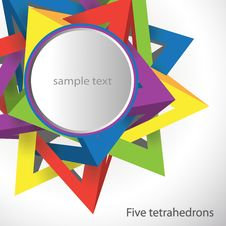 Free Five Tetrahedrons Royalty Free Stock Image - 20007756