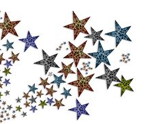 Free Handmade  Stars  Illustration 2 Royalty Free Stock Image - 20008146