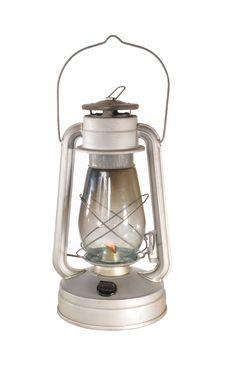 The Lamp Burns Stock Photo