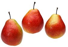 Free Three Pears Royalty Free Stock Photos - 20009358