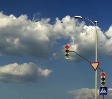 Free Stoplight Royalty Free Stock Photo - 20009485
