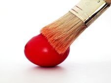 Free Coloring Easter Eggs With A Brush Royalty Free Stock Image - 20009646