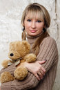 Free Sexy Girl With Teddy Bear Royalty Free Stock Images - 20010659