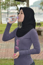 Free Young Woman Drinking Water Royalty Free Stock Images - 20015539